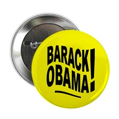 Barack Obama! Yellow Button