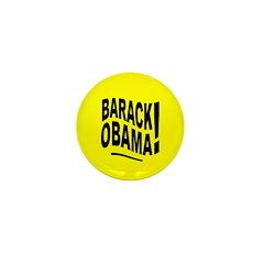 Barack Obama! Yellow Mini Button