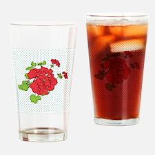 dots a geranium coaster Drinking Glass