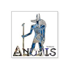 "Anubis 3D Square Sticker 3"" x 3"""