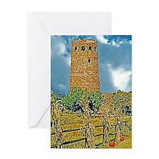 Grand Canyon Watchtower Art Decor Pr Greeting Card