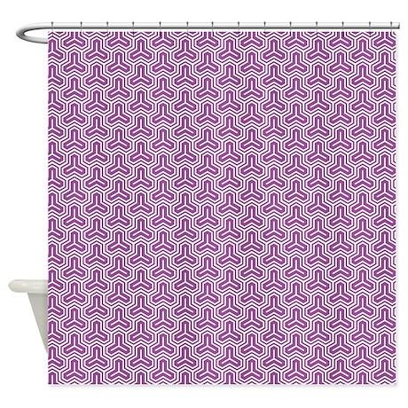 Purple Geometric Pattern Shower Curtain By Cuteprints