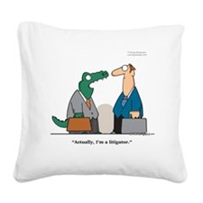 lawyer Square Canvas Pillow