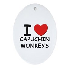 I love capuchin monkeys Oval Ornament