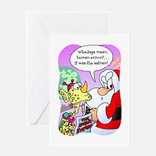 Santas Satnav Cartoon Greeting Cards