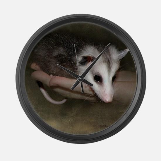 Possum child SQ 10 Large Wall Clock