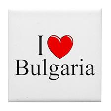 """""""I Love Bulgaria"""" Tile Coaster"""