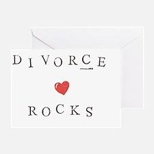 Divorce Rocks Greeting Card