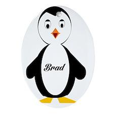 Brad-Penguin Oval Ornament