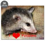 Opossum valentine Puzzles