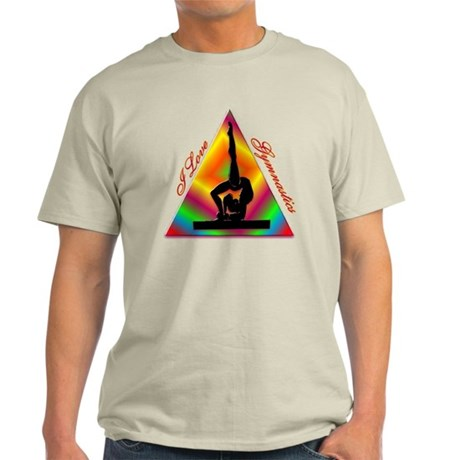 I Love Gymnastics triangle #4 Light T-Shirt
