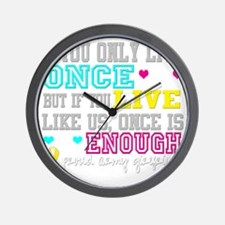 onceisenougharmygf Wall Clock