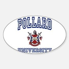 POLLARD University Oval Decal