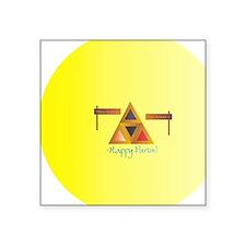 """Purim_Hamantaschen1_round_2 Square Sticker 3"""" x 3"""""""