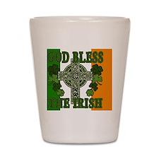 god bless_banner Shot Glass