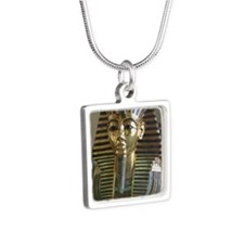 mask Silver Square Necklace