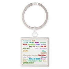 2-lostcollagewh Square Keychain