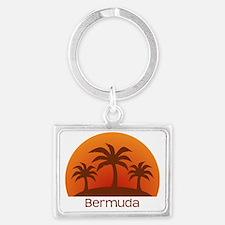 threePalmsDark_Bermuda_10x10 Landscape Keychain