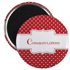 Red Polka Dot Congratulations Magnets
