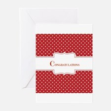 Red Polka Dot Congratulations Greeting Cards