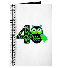 Birthday Boy Owl with a 4 Journal