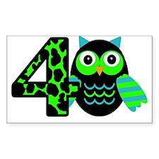 Birthday Boy Owl with a 4 Decal