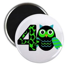 Birthday Boy Owl with a 4 Magnets
