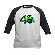 Birthday Boy Owl with a 4 Baseball Jersey