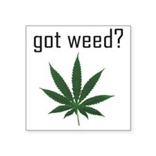 "gotweed Square Sticker 3"" x 3"""