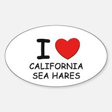 I love california sea hares Oval Decal