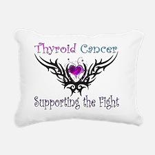 Thyroid Support Rectangular Canvas Pillow
