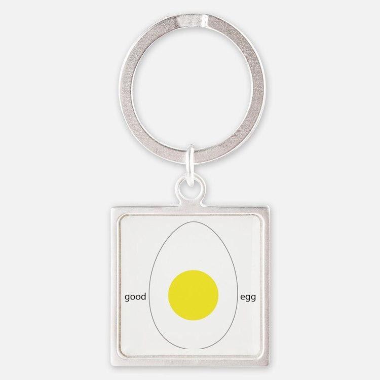 Good Egg Square Keychain