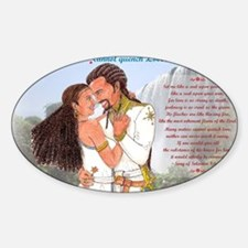 Mekonnen_Nuhamin_Quench-Love3k Sticker (Oval)