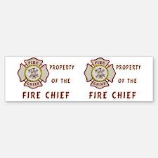 Fire Chief Property Car Car Sticker