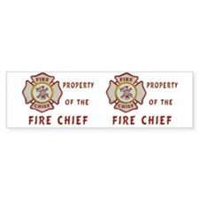 Fire Chief Property Car Sticker