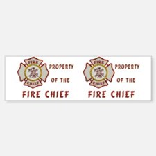 Fire Chief Property Sticker (Bumper)