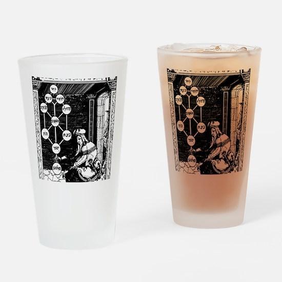 Gikatilla - white Drinking Glass