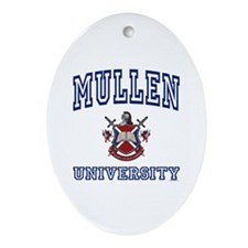 MULLEN University Oval Ornament