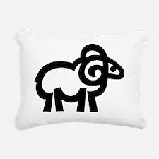 Sheepshead Review retro Rectangular Canvas Pillow