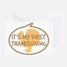 Babys First Thanksgiving Greeting Card