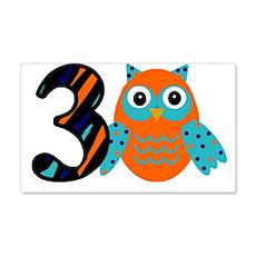 Birthday Boy Owl with a 3 Wall Decal