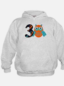 Birthday Boy Owl with a 3 Hoodie