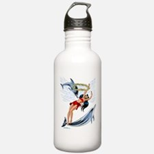 swiming with dolphins- Water Bottle