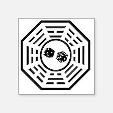 "Dharma dice black Square Sticker 3"" x 3"""