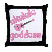 ukulele goddess womens uke Throw Pillow