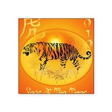 "Year Of The Tiger 2010 Post Square Sticker 3"" x 3"""