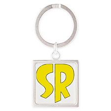 Super_rock Square Keychain