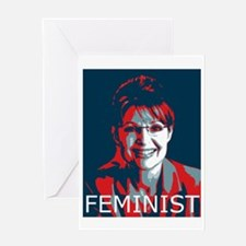 sarah-palin_feminist_5 Greeting Card
