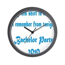 2-bachlor Wall Clock