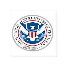 """extremist Square Sticker 3"""" x 3"""""""